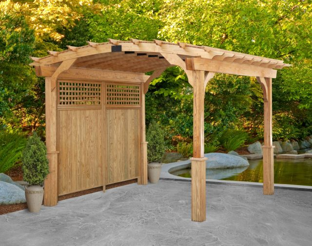 8x10 p.t. celebration center pergola privacy wall