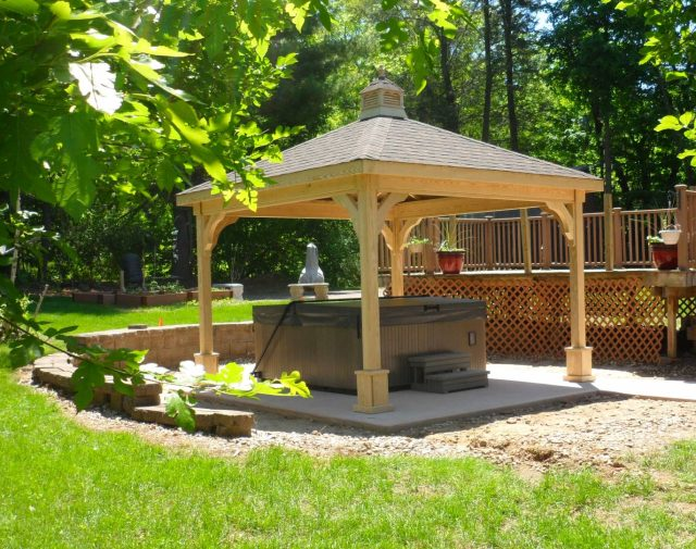 10x10 wooden p.t. pavilion with cupola