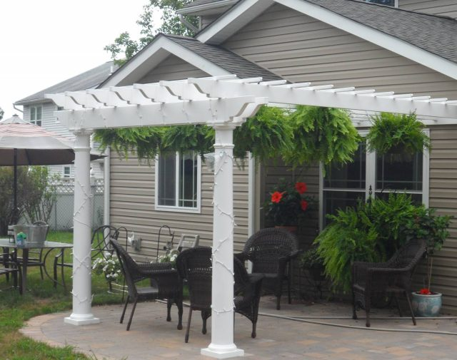 vinyl pergola decorative