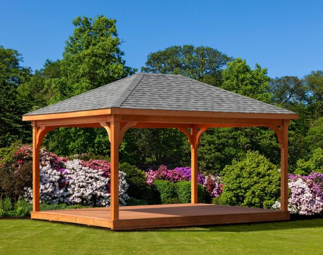 10x14 p.t. wood pavilion with floor