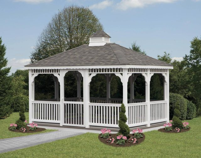 vinyl rectangle gazebo