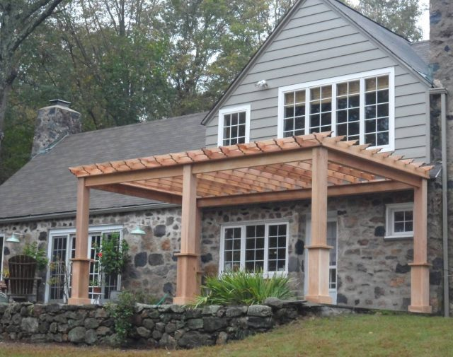 wood cedar pergola options