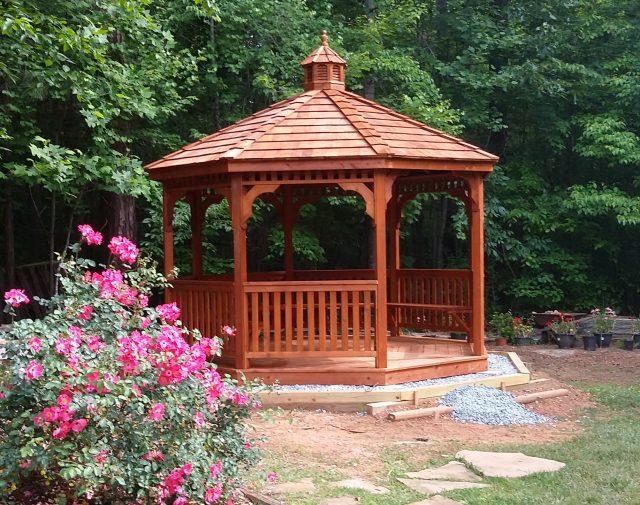 cedar wood garden gazebo