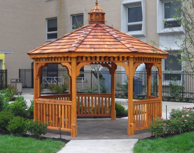 cedar wood gazebo for outdoor patios