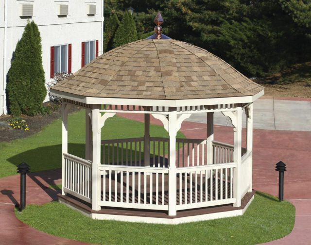 12ft. vinyl octagon gazebo with bell roof