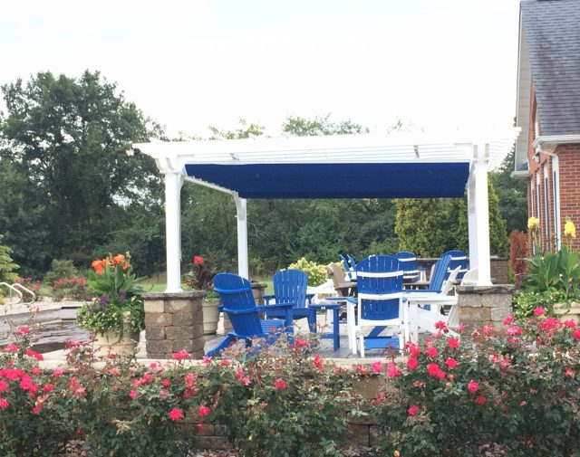 12x16 vinyl cozy retreat pergola with canopy