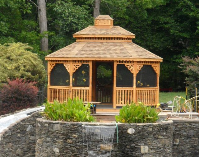 wood gazebo for patios