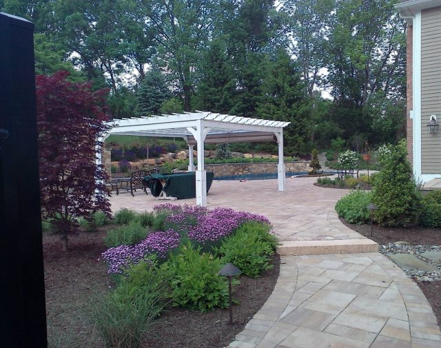 12x18 vinyl custome retreat pergola with canopy