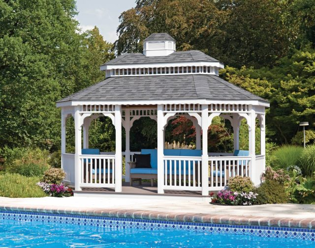 vinyl gazebo pool buildings