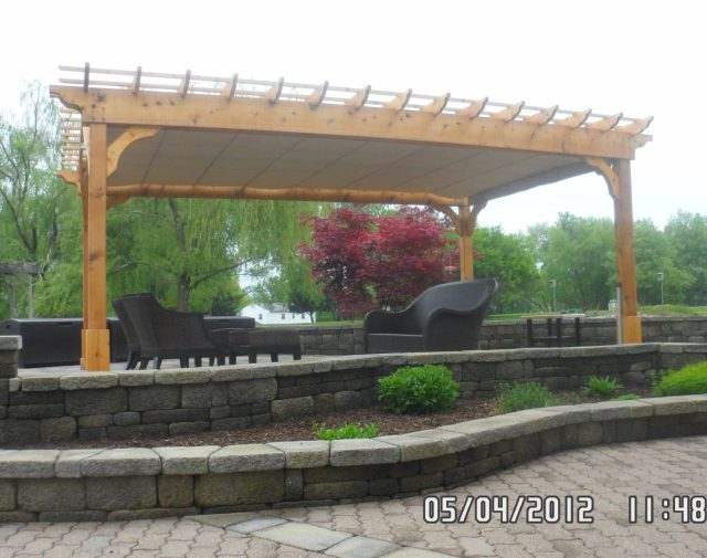 12x24 cedar cozy retreat pergola with canopy