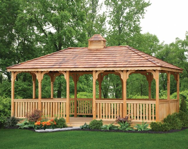 12x24 rect p-t yellowpine gazebo with cedar shingles