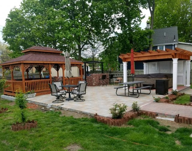 outdoor patio and garden structures