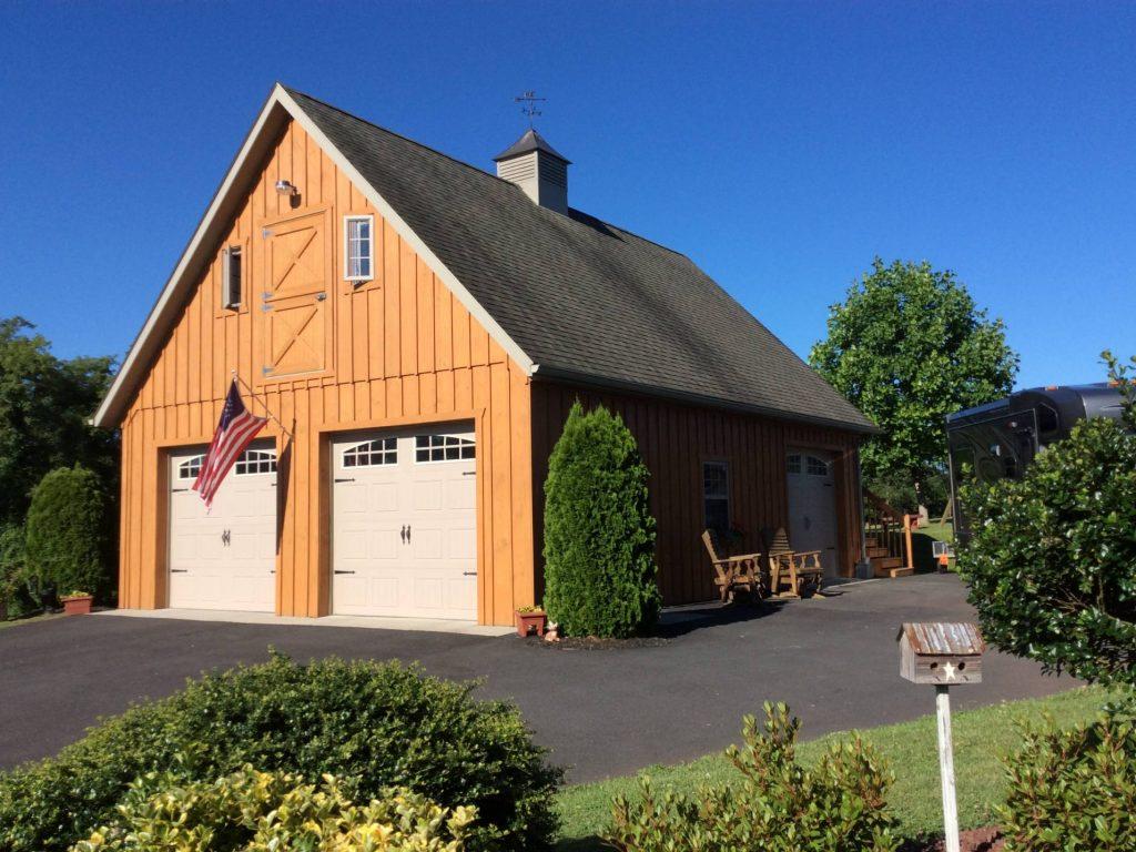 2-story wood garage