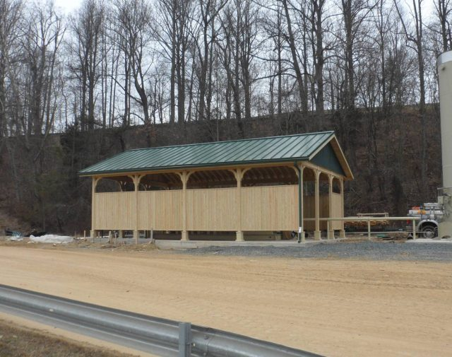 20x40 yellow pine commercial pavilion