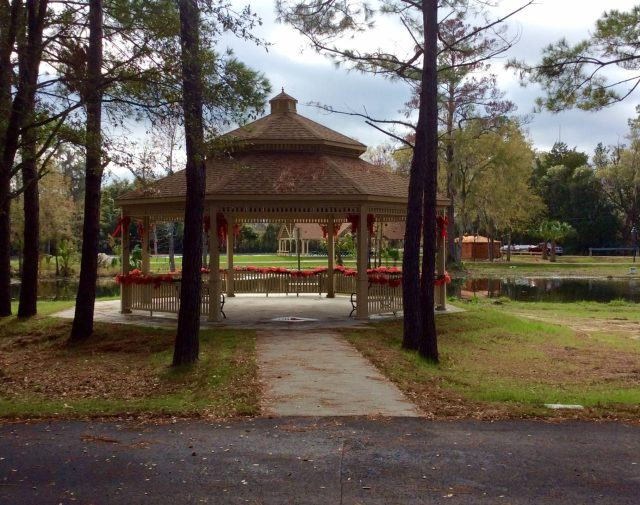 30' oct yellow pine commercial gazebo with double roof