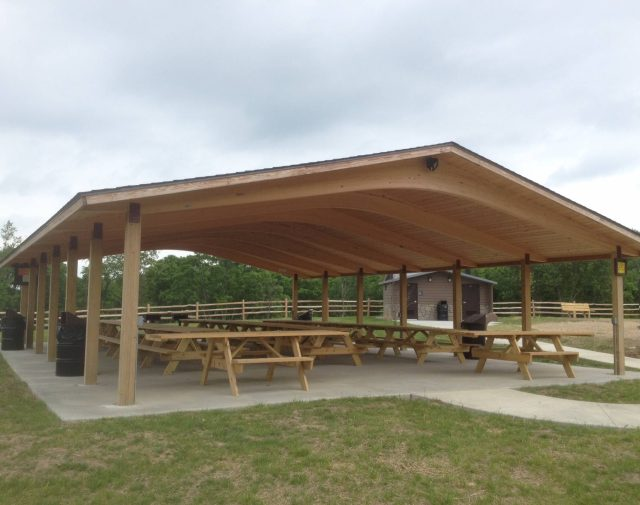 40x60 comercial yellow pine wood pavilion