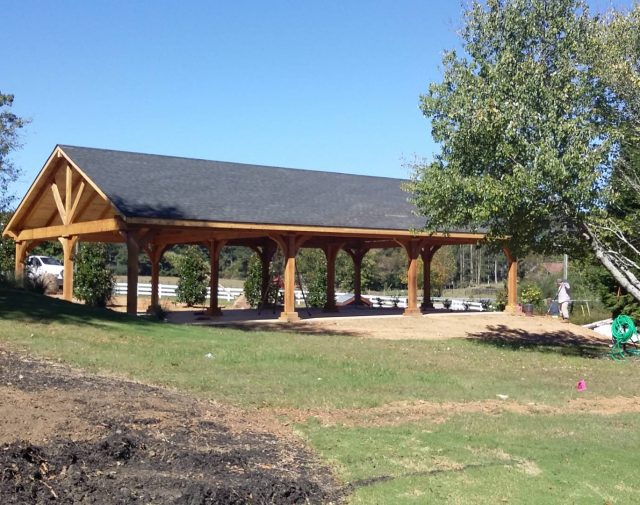 wood cedar timber frame pavilion