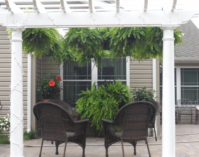 decorative vinyl pergola
