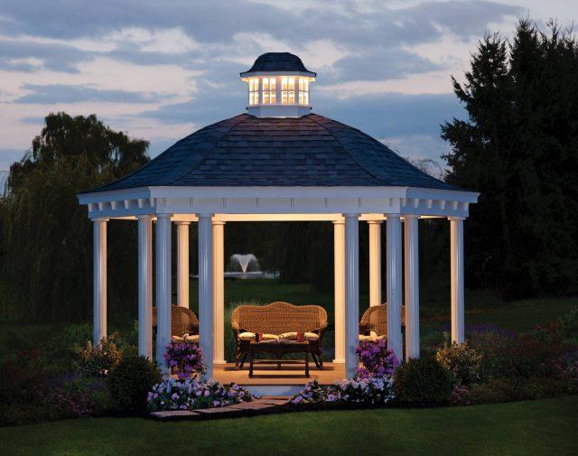 vinyl bell roof pavilion