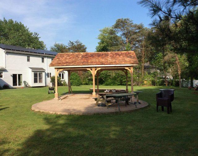 FR 16x20 cedar open gable pavilion cedar shingles (2)