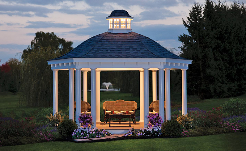 hex bell roof pavilion style