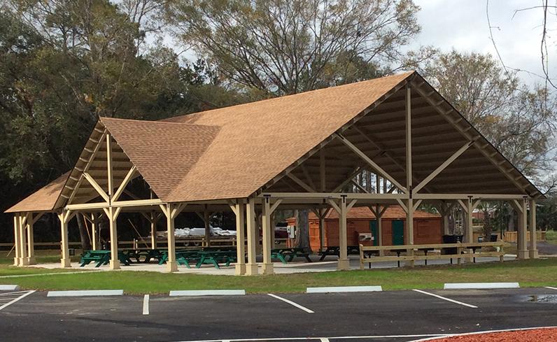 open gable wood pavilion style