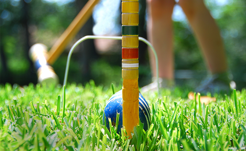 croquet for backyard makeover on a budget