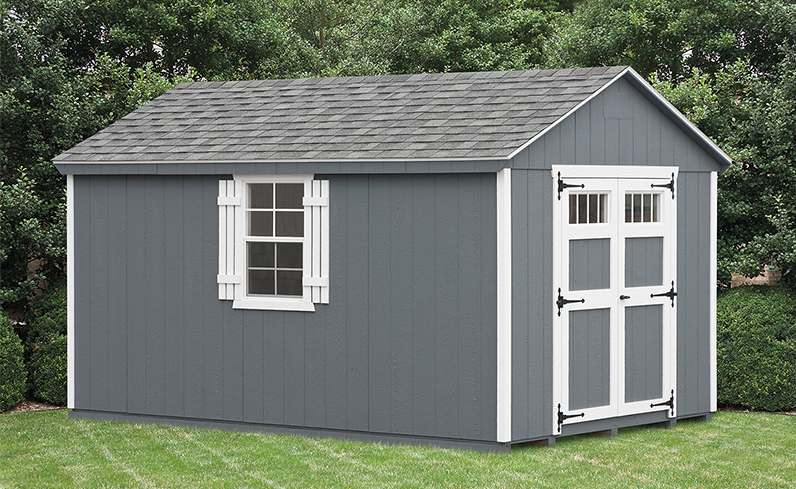 new shed for backyard makeover idea