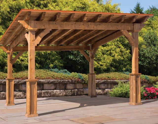 sturdy, decorative cedar structure