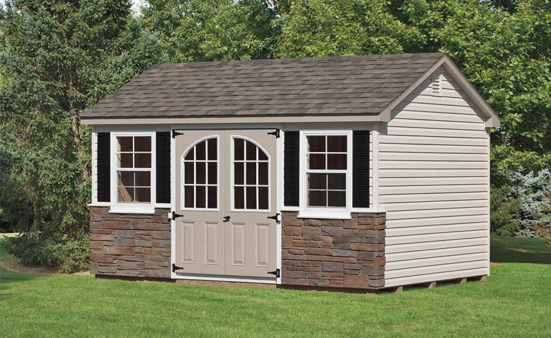 premium vinyl shed cost