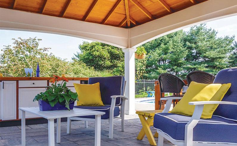 pavilion on a deck