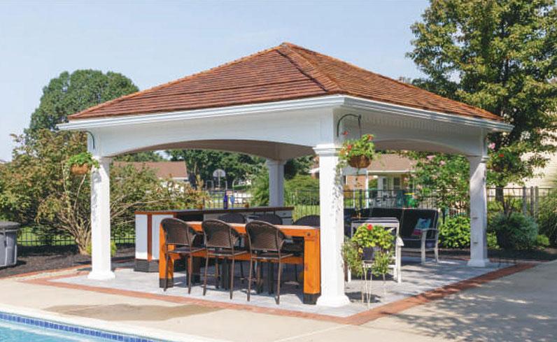 standard style home pavilion