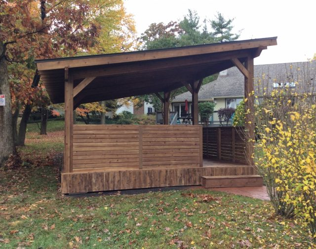 Field Contemporary Cedar Pavilion with Bar