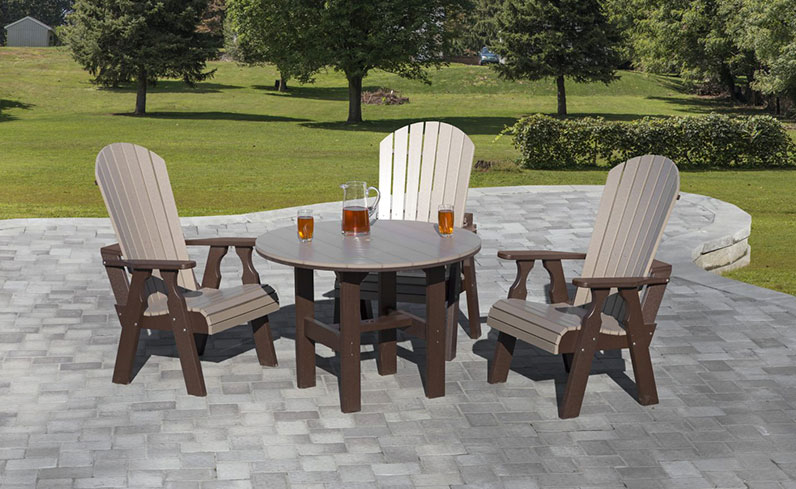 quality poly outdoor furniture fan back dining set