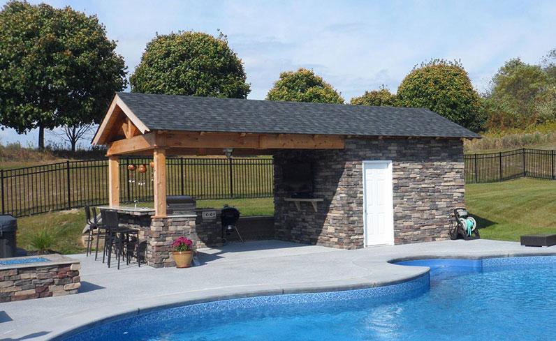 poolside bar pavilion ideas