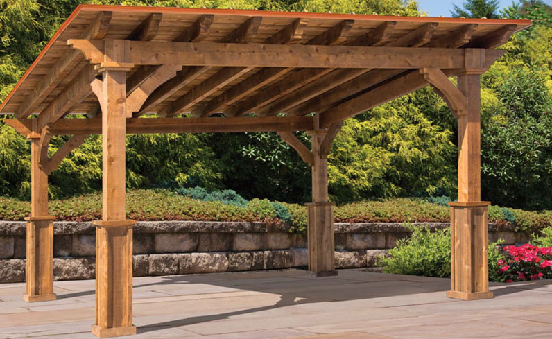holiday shadow outdoor kitchen structure