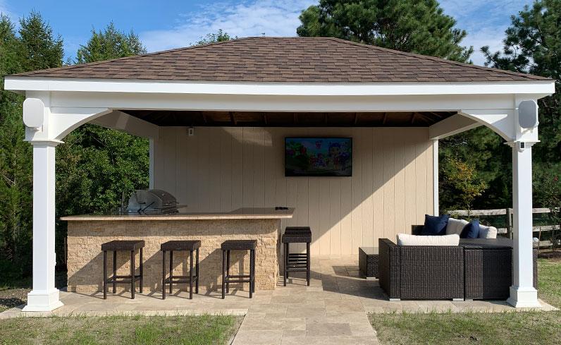 luxury pool pavilion