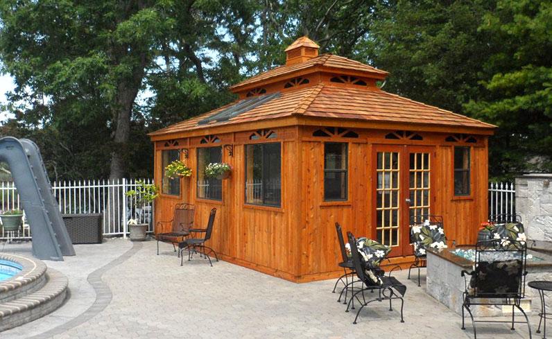 traditional cedar cabana