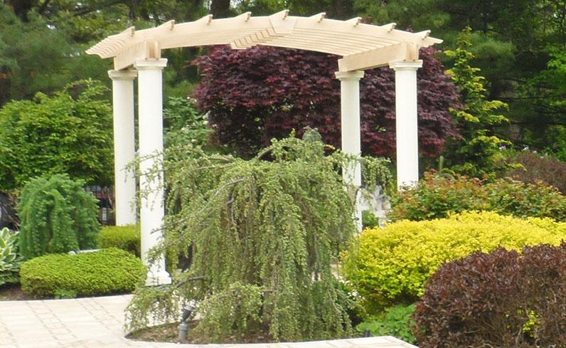 contemporary backyard structure