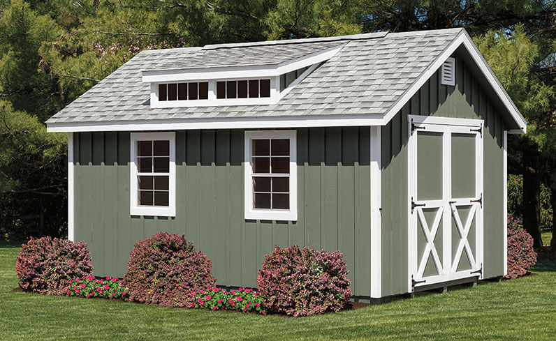 green and white shed color schemes