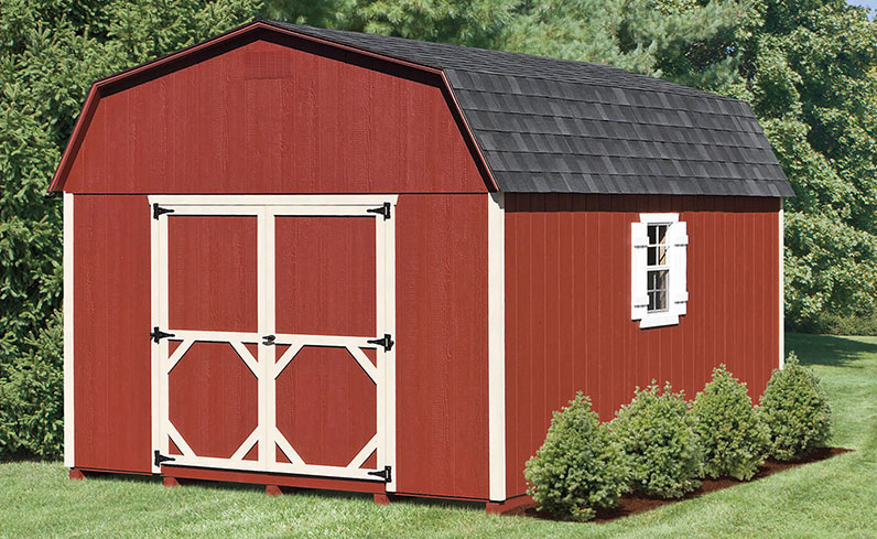 red and white shed color schemes
