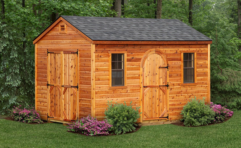 rustic wood shed color schemes