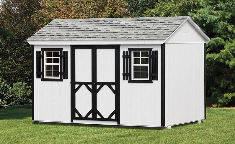 white and black shed color combinations