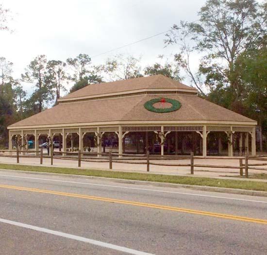 A commercial pavilion built in a public park