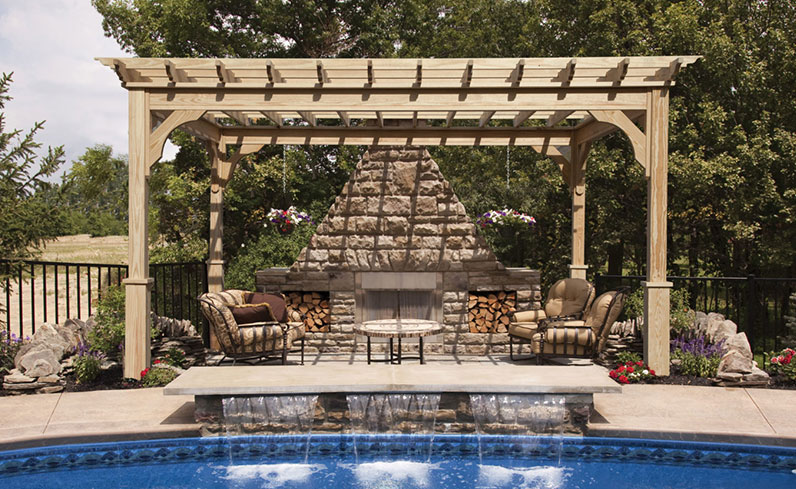 code requirements for wood pool pergola