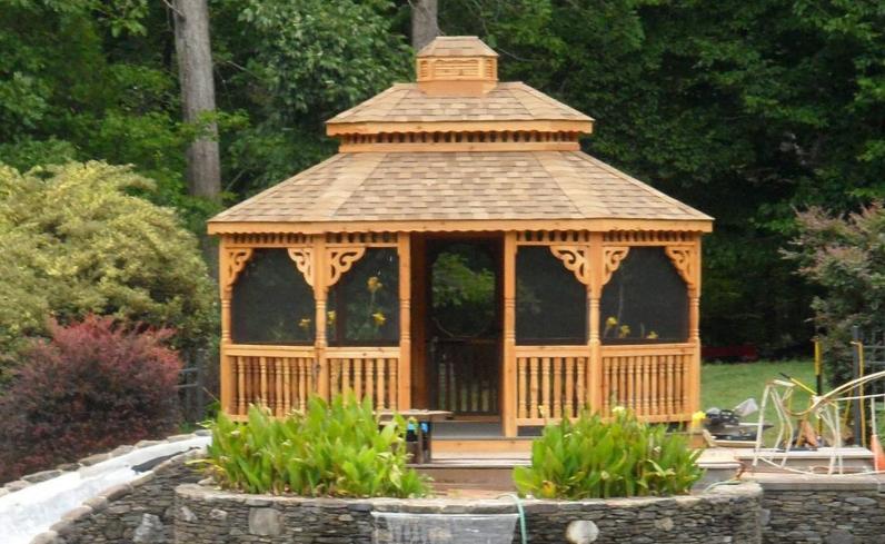 deck cedar gazebo designs