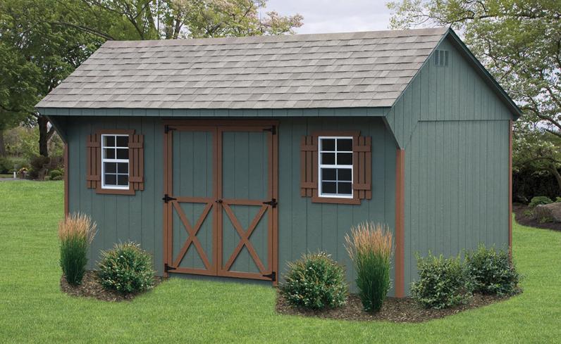wood quaker shed