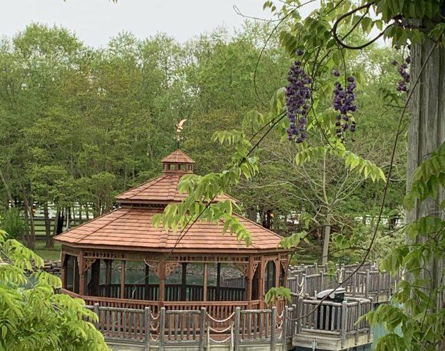 Cedar Octagon with a Pagoda Roof