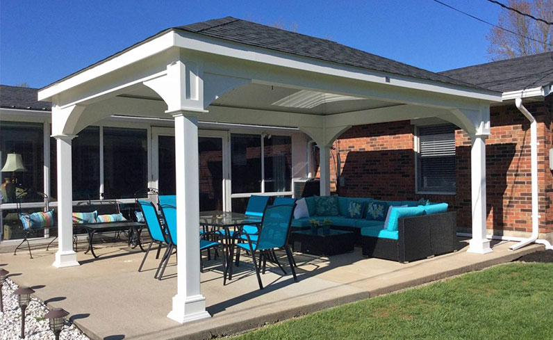 deck refresh with pavilion
