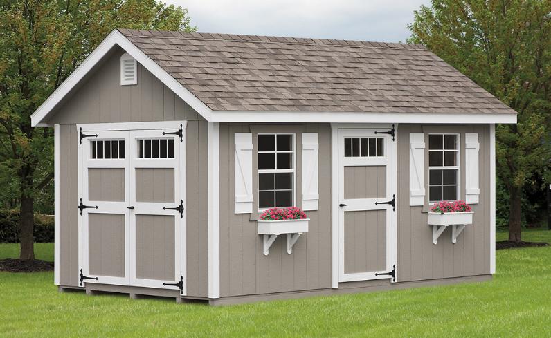 low-maintenance sheds